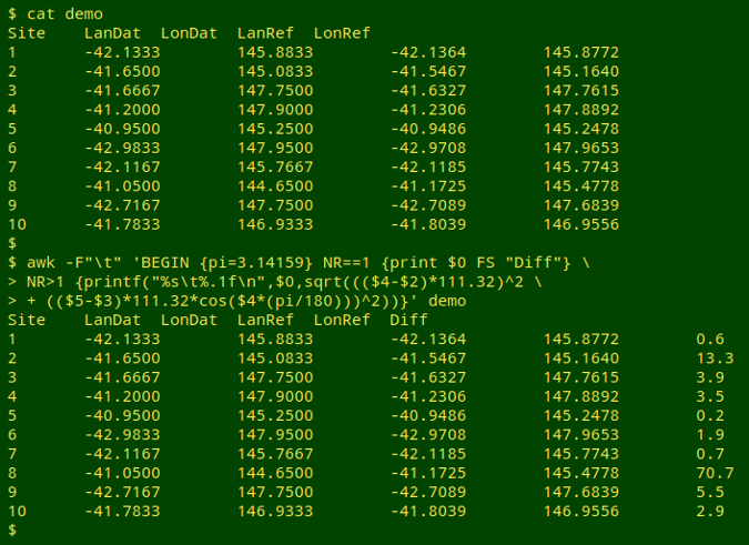 How to find distances between lat/lons for geochecking